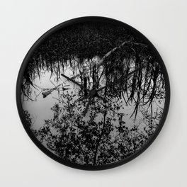 Monochrome Marshland Wall Clock