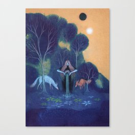 Filling the Well Canvas Print