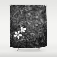 pee wee Shower Curtains featuring Wee flowers by tatakis