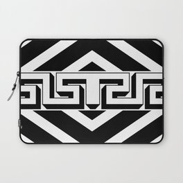PLAIN BLACK AND WHITE MODERN ART ABSTRACT DESIGN Laptop Sleeve