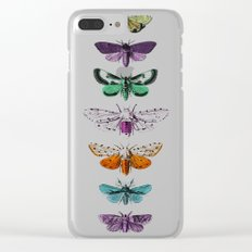 Techno-Moth Collection Clear iPhone Case