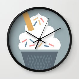 Ice Cream (Blue) Wall Clock