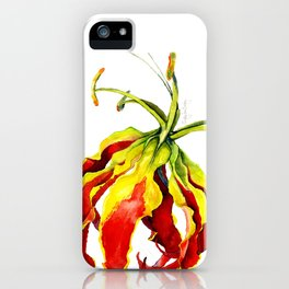 Gloriosa Lily iPhone Case