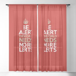 BE ALERT! Sheer Curtain