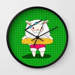 Let's Go To A Pool (Lambie) Wall Clock