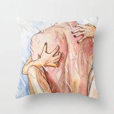 shower sex Throw Pillow