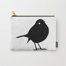Bird Black Silhouette Animal Pet Cool Style Carry-All Pouch
