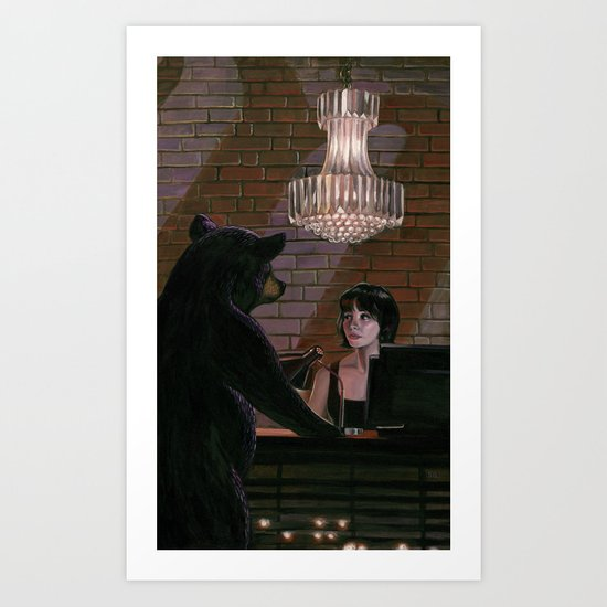 Red River Nightcap Art Print