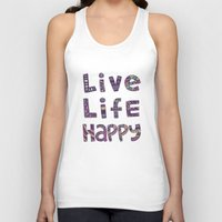 snorlax Tank Tops featuring Live Life Happy Poster by koppen Code