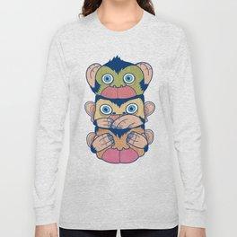 Hear no evil, Speak no evil, See no evil Long Sleeve T-shirt