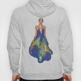 Lady in Blue Hoody