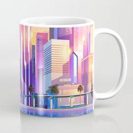 Synthwave Space #19: Neon City (pixelart) Coffee Mug