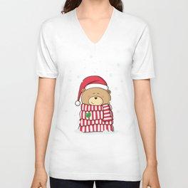 Christmas Teddy bear Unisex V-Neck