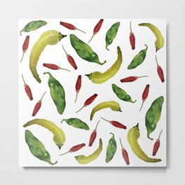 Jalapeno, Banana and Chile Peppers Metal Print