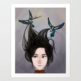 """""""Bluebird, Bluebird"""" Art Print"""