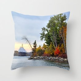 Algosteel at Steers Island Throw Pillow