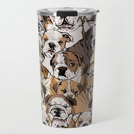 Social English Bulldog Travel Mug