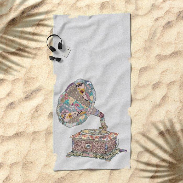 SEEING SOUND Beach Towel