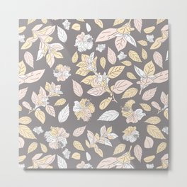 Trendy botanical pattern design Metal Print