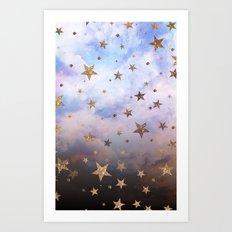 Cloudy Stars Art Print