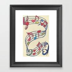 Lovely Melody Framed Art Print