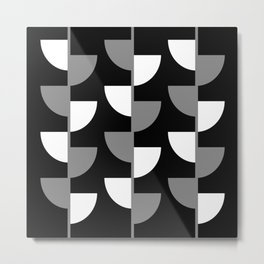 Climbing High - Grey and White on Black - Slices series Metal Print