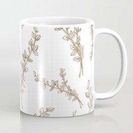 gold thyme in pattern Coffee Mug