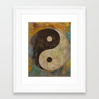 yin yang Framed Art Prints featuring Yin Yang by Michael Creese