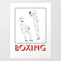 boxing Art Prints featuring boxing by naïve magic