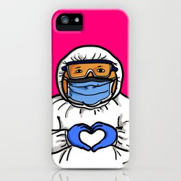 Medical Personal Protective Equipment Hand Heart Shape iPhone Case