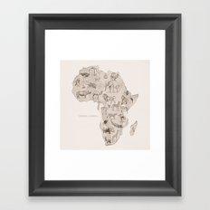 Africa (Fauna) Framed Art Print