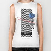 vogue Biker Tanks featuring Vogue by Frank Moth