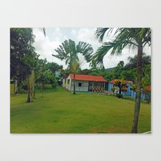 House in Dominican Republic Canvas Print