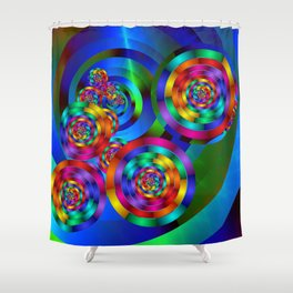 Rainbow Rings Shower Curtain