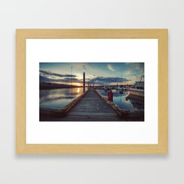 homer boat harbor Framed Art Print