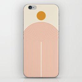 Abstraction_SUN_LINES_VISUAL_ART_Minimalism_001 iPhone Skin