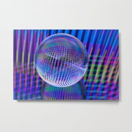 Criss Cross lights in the ball Metal Print