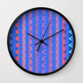 Vintage Modernist African Rhythmic Lines Wall Clock