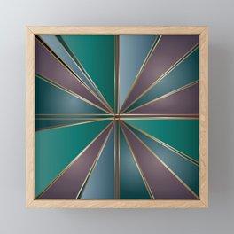 Stained Glass Flower Framed Mini Art Print