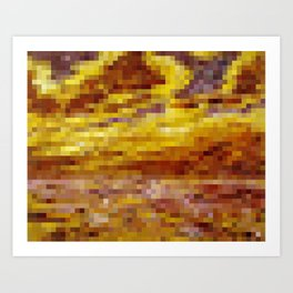Emil Nolde Autumn Sea VII in 2,000 pixels (40x50) Art Print