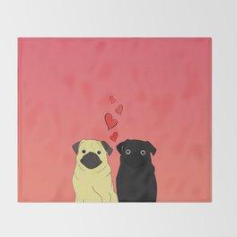 Pugs In Love Sunset Throw Blanket