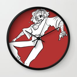 Red coma Wall Clock