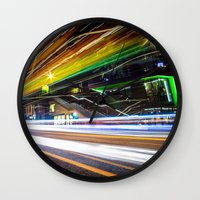 Light Trails 1 Wall Clock