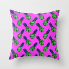 Neo-Pineapple - Poptastic Throw Pillow