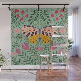 Butterfly in The Garden 02 Wall Mural