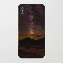 Milky Way over the Badlands South Dekota iPhone Case