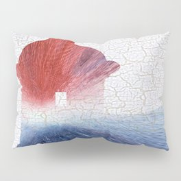 Colorful Art El Morro Blue Red and White Pillow Sham