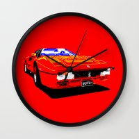ferrari Wall Clocks featuring FERRARI by haydiroket