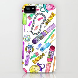 Neon 80's 90's Retro Funny Candy Pattern iPhone Case