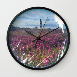 Lighthouse - paint graphic Wall Clock